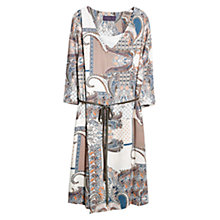 Buy Violeta by Mango Leather Belt Dress, Beige/Khaki Online at johnlewis.com