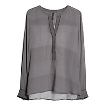 Buy Mango Geometric Pattern Blouse, Natural White Online at johnlewis.com