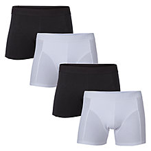 Buy Selected Homme Kris Trunks, Pack of 4, Black/White Online at johnlewis.com