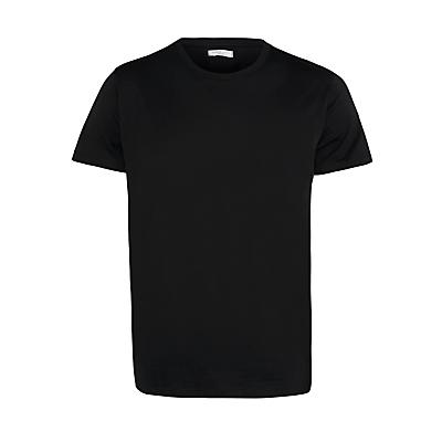 Selected Homme Crew Neck Cotton T-Shirt, Black