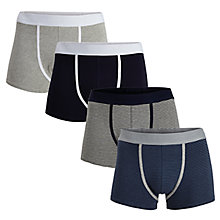 Buy Selected Homme Kev Trunks, Pack of 4, Grey/Blue Online at johnlewis.com
