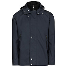 Buy Reiss Zupo Hooded Short Jacket, Navy Online at johnlewis.com