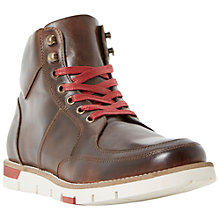 Buy Bertie Cedric Leather Lace Up Apron Boots Online at johnlewis.com