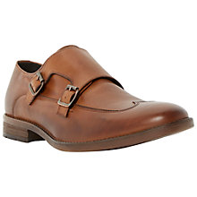 Buy Bertie Reeds Double Buckle Leather Wingtip Monk Shoes, Tan Online at johnlewis.com