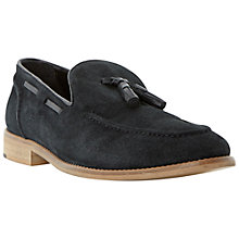 Buy Bertie Royalty Apron Detail Tassel Suede Loafers, Black Online at johnlewis.com