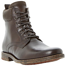 Buy Bertie Camouflage Zip and Lace-Up Leather Worker Boots, Brown Online at johnlewis.com