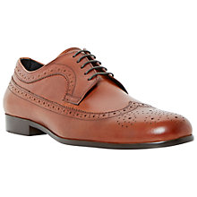 Buy Dune Rufus Wingtip Brogue Shoes, Tan Online at johnlewis.com