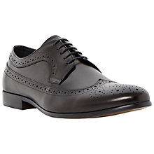 Buy Dune Rufus Wingtip Brogue Shoes, Black Online at johnlewis.com