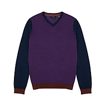 Buy Ted Baker Blokvee V-Neck Jumper Online at johnlewis.com