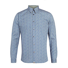 Buy Pretty Green Paddison Floral Shirt, Blue Online at johnlewis.com