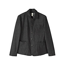 Buy Jigsaw Wool Denim Work Wear Jacket, Black Online at johnlewis.com