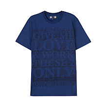 Buy Jigsaw William Morris Classic Cotton T-Shirt, Indigo Online at johnlewis.com