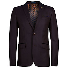 Buy Ted Baker Jojen Wool Mix Pin Dot Blazer, Brown Online at johnlewis.com