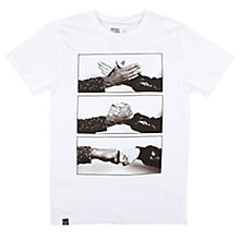Buy Dedicated Handshake Printed T-Shirt, White Online at johnlewis.com