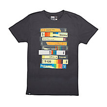 Buy Dedicated Video Print T-Shirt, Charcoal Online at johnlewis.com