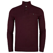 Buy Ted Baker Cleeow Jersey Top, Dark Red Online at johnlewis.com