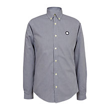 Buy Pretty Green Glendale Gingham Shirt, Navy Online at johnlewis.com