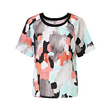Buy Kin by John Lewis Brush Stroke Print Top, Multi Online at johnlewis.com