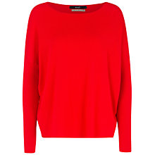 Buy Oui Boxy Knit Jumper, Red Online at johnlewis.com