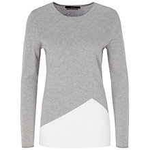 Buy Oui Colour Block Jumper, Grey/White Online at johnlewis.com