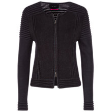 Buy Oui Coated Knit Jacket, Black Online at johnlewis.com