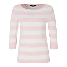 Buy Oui Stripe Jumper, Red/White Online at johnlewis.com