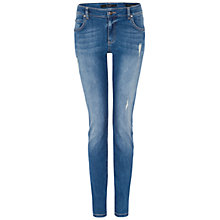 Buy Oui Sienna Rip Detail Jeans, Blue Online at johnlewis.com