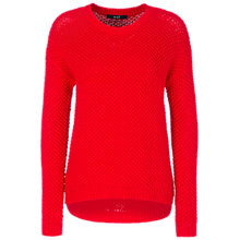 Buy Oui Waffle Knit Jumper, Red Online at johnlewis.com