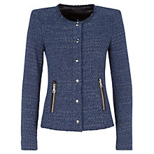 Buy Oui Boucle Jacket, Blue Online at johnlewis.com