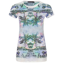 Buy Oui Palm Tree Montage T-shirt, Multi Online at johnlewis.com