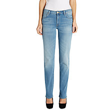 Buy Lee Marion Straight Leg Jeans, Blue Sign Online at johnlewis.com