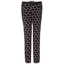 Buy Oui Spot Print Trousers, Black Online at johnlewis.com