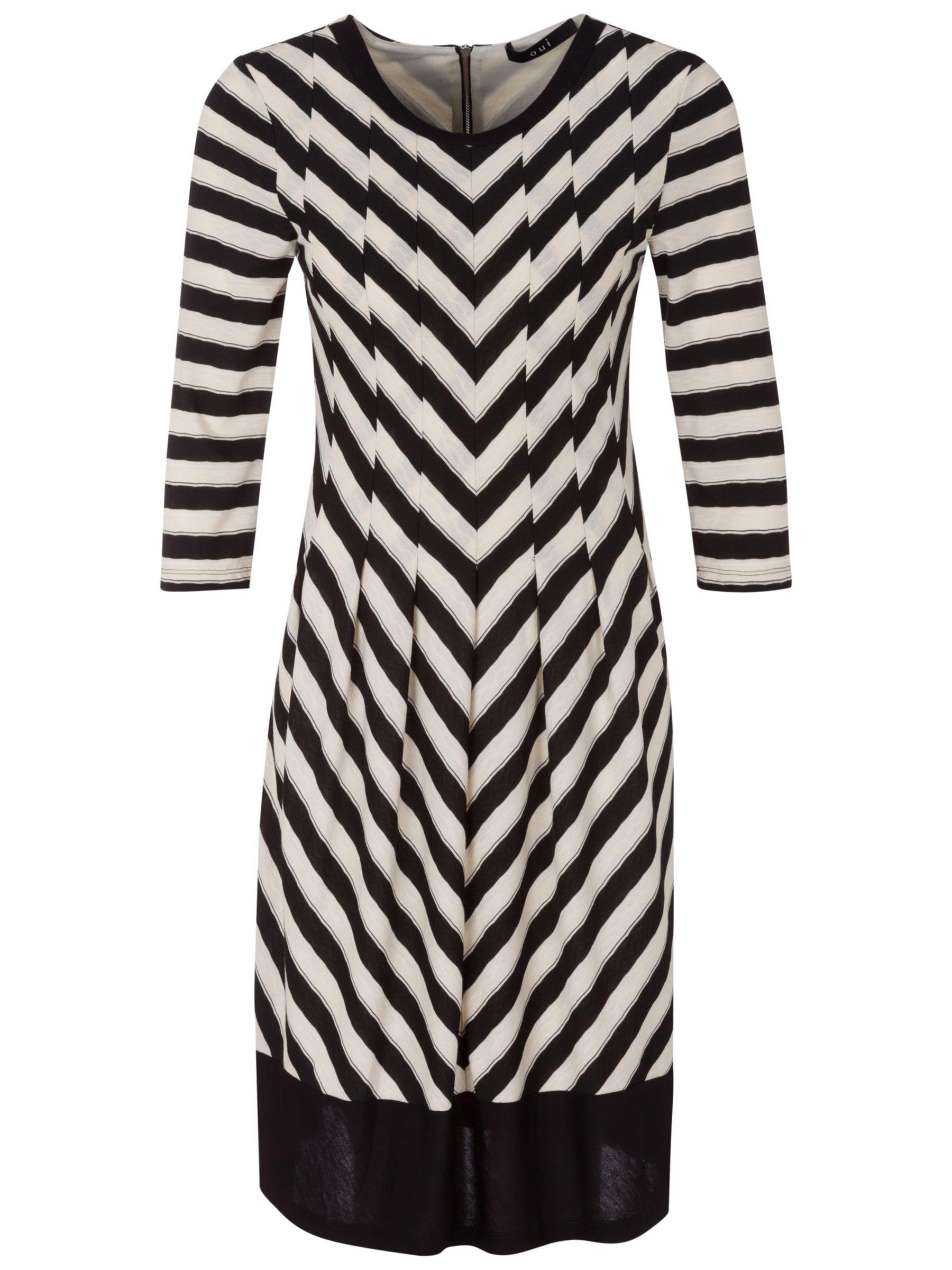 oui chevron knit dress black/cream, oui, chevron, knit, dress, black/cream, 8|16|12|14|10, women, womens dresses, 1783260