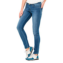 Buy Lee Scarlett Skinny Jeans, Blue Stone Online at johnlewis.com