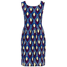 Buy Oui Peacock Print Dress, Multi Online at johnlewis.com