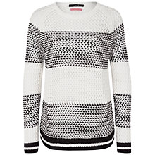 Buy Oui Waffle Knit Jumper, Cream Online at johnlewis.com