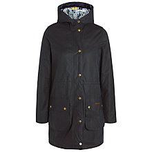 Buy Barbour Durham Wax Jacket, Navy/Kissing Gate Online at johnlewis.com