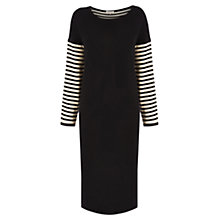 Buy Wishbone Riley Knitted Dress, Black / White Online at johnlewis.com