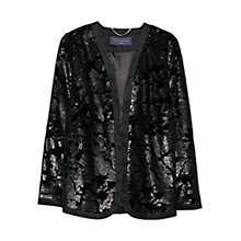 Buy Violeta by Mango Sequin Velvet Jacket, Black Online at johnlewis.com