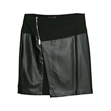 Buy Violeta by Mango Panel Wrap Skirt, Black Online at johnlewis.com