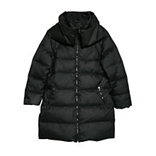 Buy Violeta by Mango Feather Down Coat, Black Online at johnlewis.com