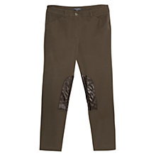Buy Violeta by Mango Stitched Patch Trousers, Khaki Online at johnlewis.com