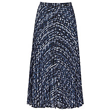 Buy Reiss Milna Abstract Print Maxi Skirt, Ocean Online at johnlewis.com