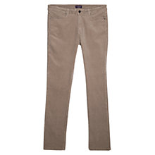 Buy Violeta by Mango Slim-Fit Corduroy Trousers, Dark Grey Online at johnlewis.com