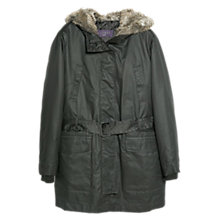 Buy Violeta by Mango Faux Fur Quilted Parka Online at johnlewis.com