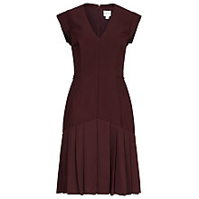 Buy Reiss Dara Pleated Day Dress, Damson Online at johnlewis.com