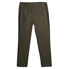 Buy Violeta by Mango Slim Leg Slit Hem Trousers, Khaki Online at johnlewis.com