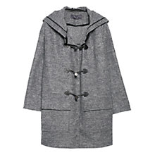 Buy Violeta by Mango Wool Blend Duffle Coat, Dark Grey Online at johnlewis.com