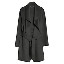 Buy Violeta by Mango Wraparound Coat, Dark Grey Online at johnlewis.com