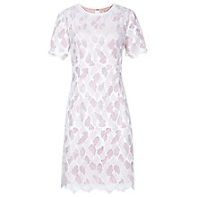 Buy Reiss Anise Fitted Lace Dress, Ivory/Pink Online at johnlewis.com